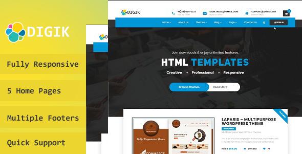 Digik – Digital Downloads WordPress Theme