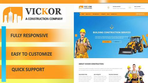 Vickor – Construction WordPress Theme