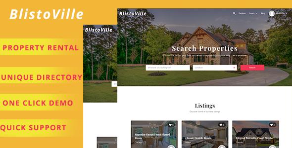 Blistoville – Real Estate Listing WordPress Theme