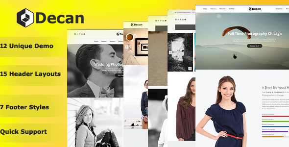 Decan – Photography WordPress Theme