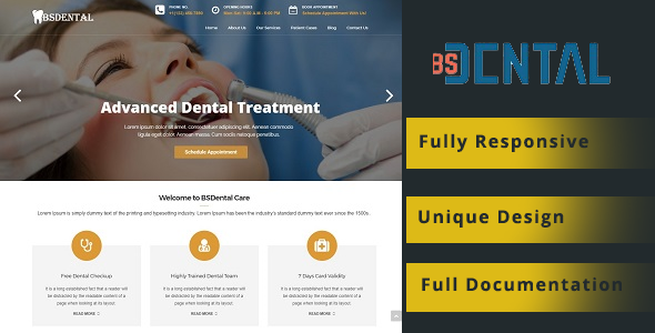BSDental – Medical & Dentist WordPress Theme