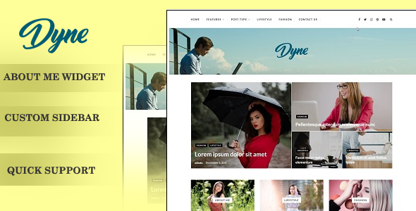 Dyne – Blog/Magzine WordPress Theme