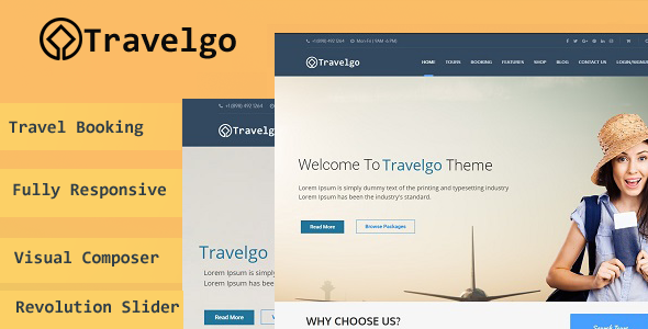 Travelgo – Tour/Travel Booking WordPress Theme