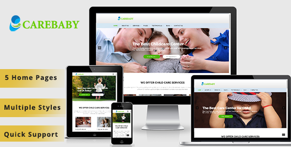 Carebaby –  Children & Kindergarten WP Theme