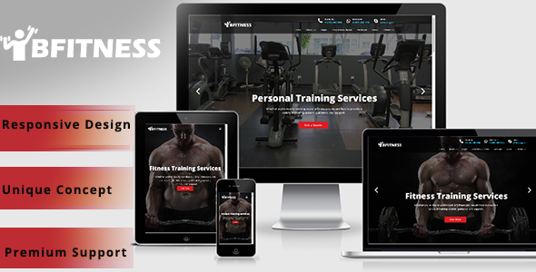 Bfitness – Gym fitness WordPress Theme