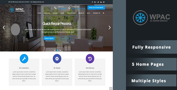 WPAC – AC Installation & Repair WordPress Theme