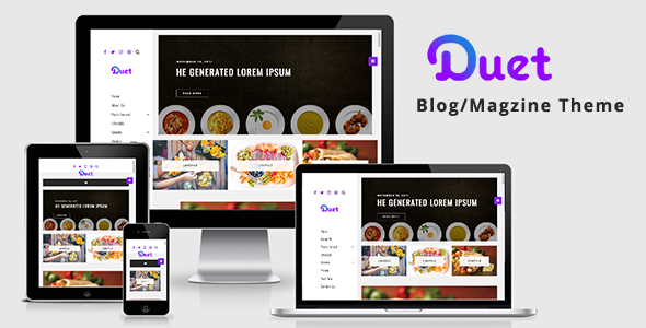 Duet – Food Blog WordPress Theme