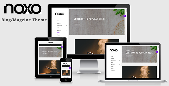 Noxo – Food Blog WordPress Theme