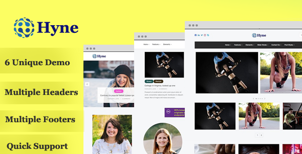 Hyne – BLOG MAGAZINE WordPress Theme