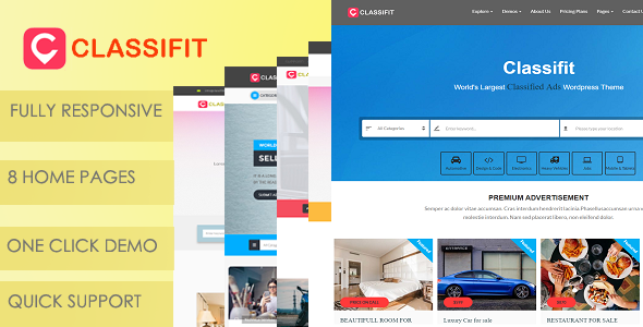 Classifit – Classified Ads Listing WordPress Theme