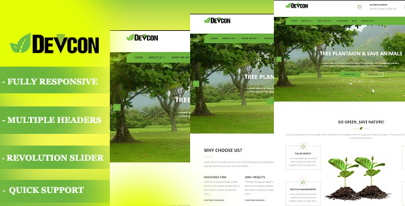 Devcon – A Ecology WordPress Theme
