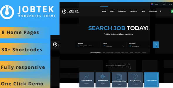 Jobtek- Job Portal WordPress Theme