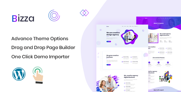 Bizza – Digital Agency WordPress Theme
