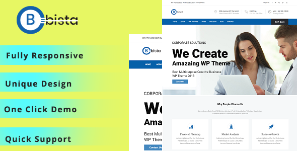 Bizza – Digital Agency WordPress Theme