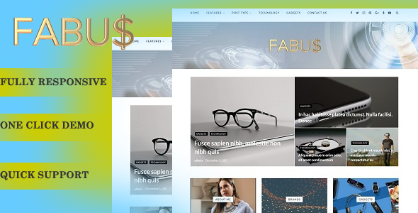 Fabus – Blog/Magzine WordPress Theme
