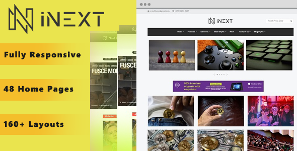 Inext -BLOG /MAGAZINE WORDPRESS THEME