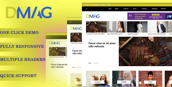 Dmag – Blog/Magzine WordPress Theme