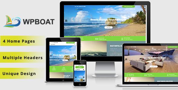 WPBoat – Boat & Yacht rental WordPress Theme
