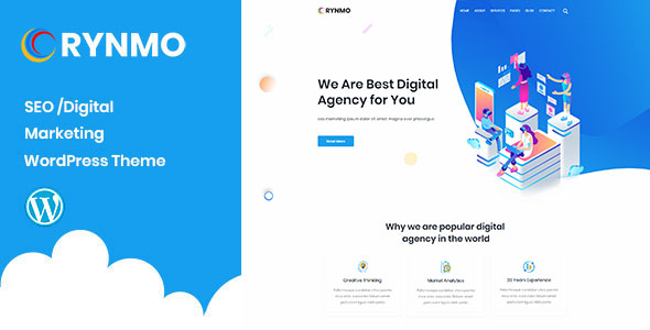 Rynmo – Digital Agency WordPress Theme