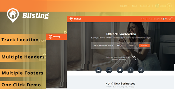 Blisting – Directory Listing WordPress Theme