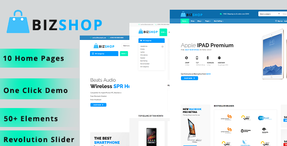 BizShop – WooCommerce WordPress Theme