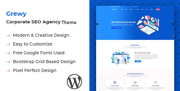 Grewy – Digital Agency WordPress Theme