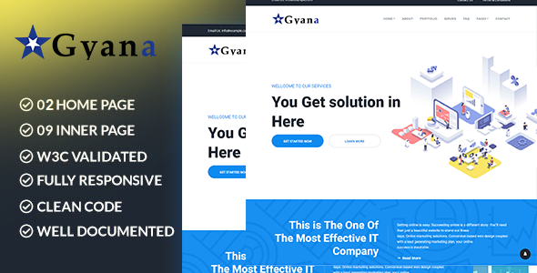 Gyana – Creative Agency WordPress Theme