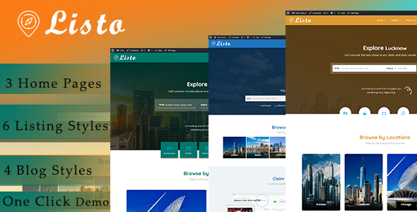 Listo – Directory Listing WordPress Theme