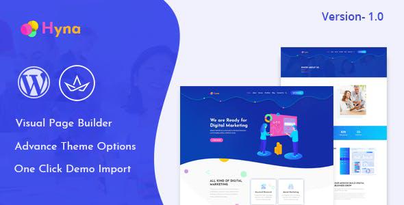 Hyna – Digital Agency WordPress Theme