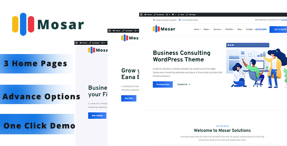 Mosar – Business Consulting WP Theme