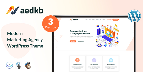 Xaedkb – Digital Agency WordPress Theme